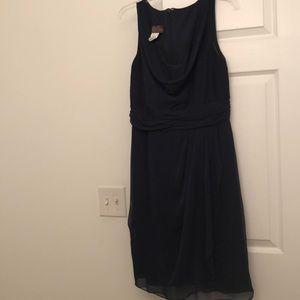 Midnight blue formal dress.